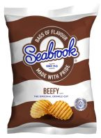 Saebrook Crisps 32 x 31gm Beefy Flavour